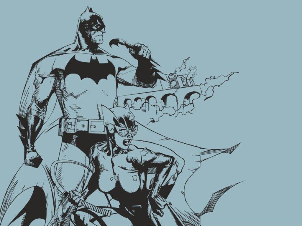 Comics Wallpaper: Batman and Catwoman