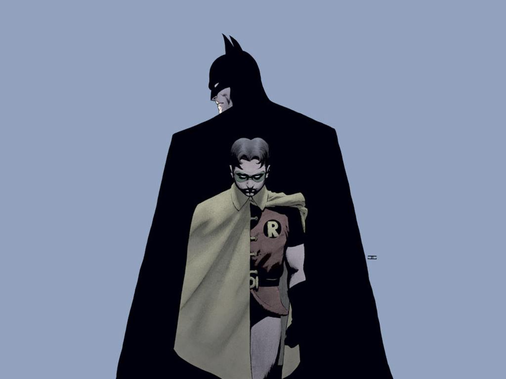 Comics Wallpaper: Batman and Robin (by Cassaday)