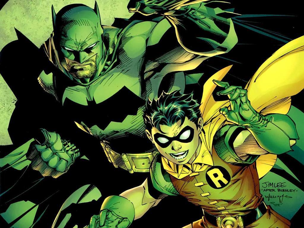 Comics Wallpaper: Batman and Robin (by Jim Lee)