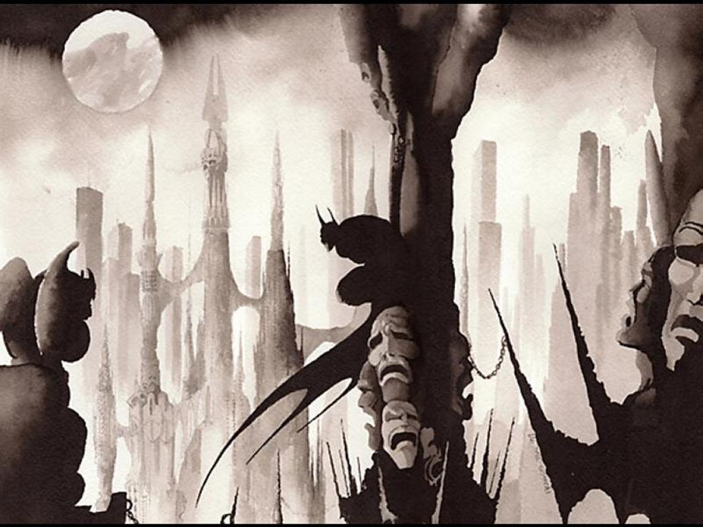 Comics Wallpaper: Batman on Hell