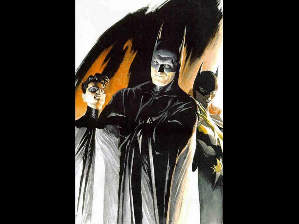 Comics Wallpaper: Batman, Robin and Batgirl