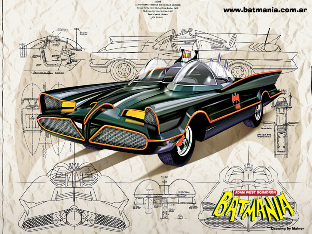 Comics Wallpaper: Batman Sixties - Batmobile