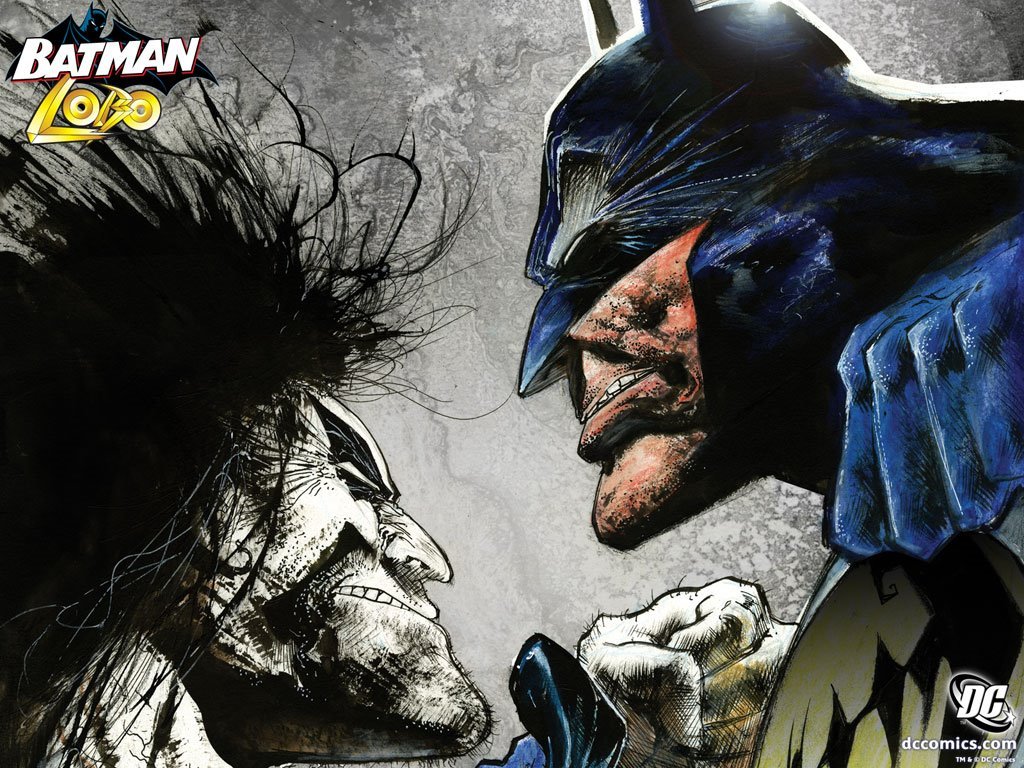 Comics Wallpaper: Batman vs Lobo
