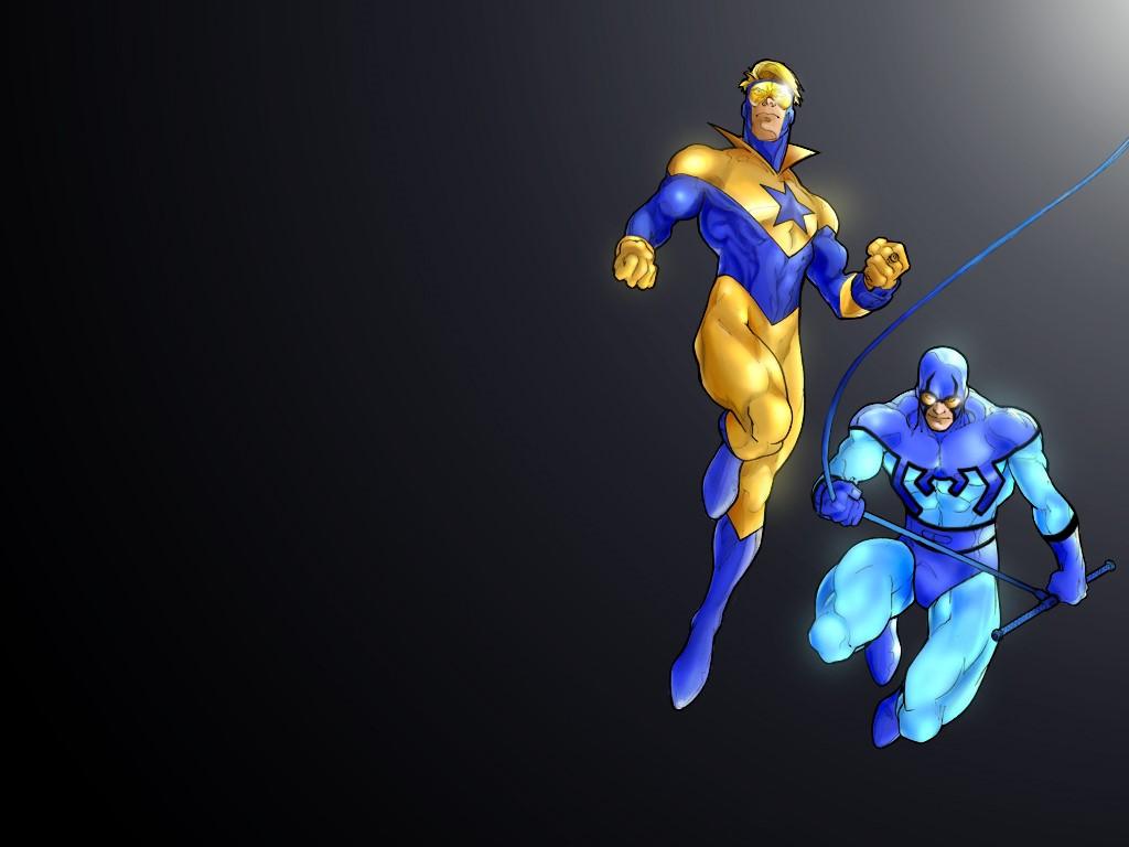 Comics Wallpaper: Blue and Gold