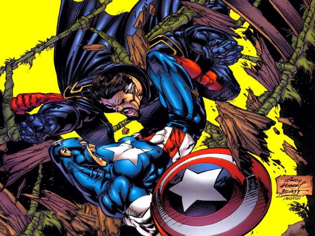 Comics Wallpaper: Captain America Against Nefaria