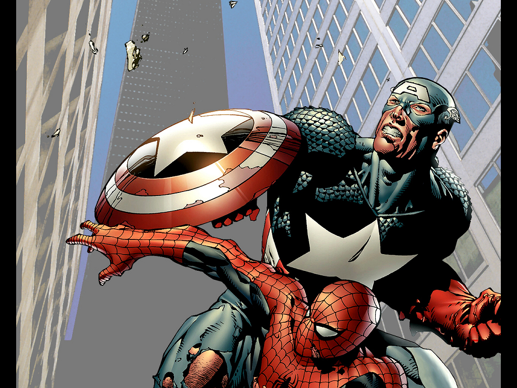Comics Wallpaper: Captain America and Spider-Man by JP