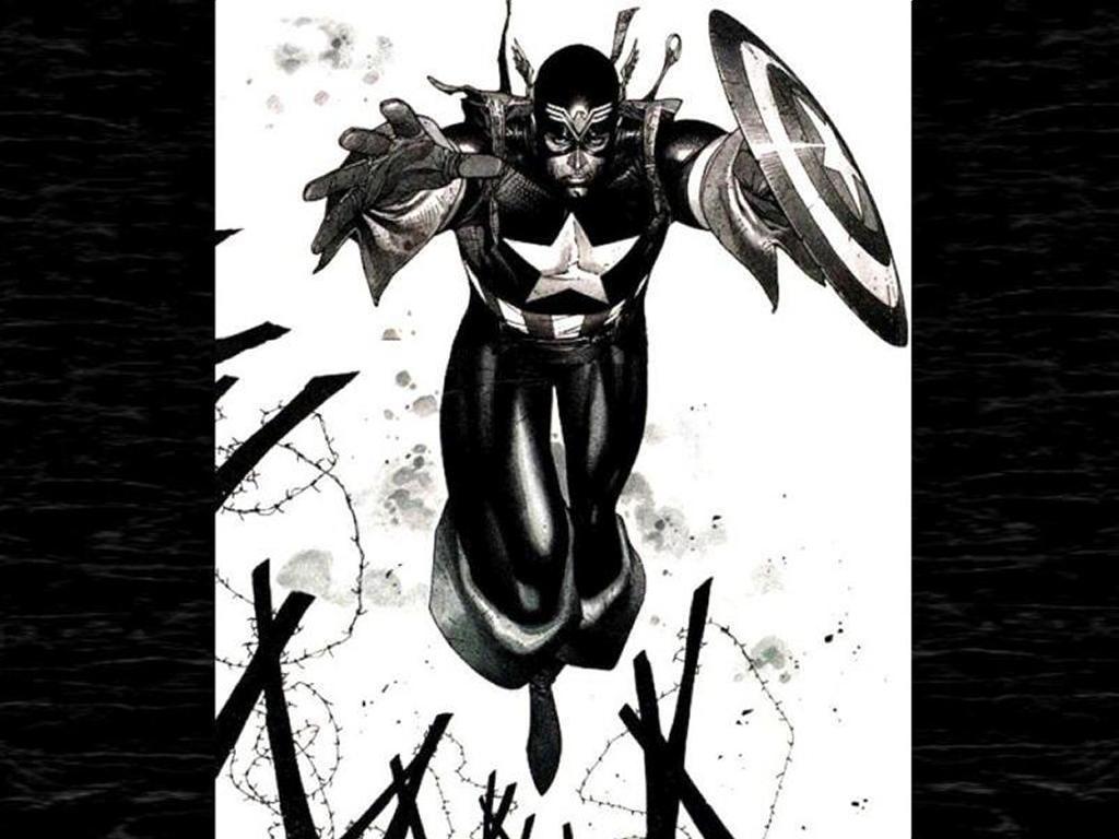 Comics Wallpaper: Captain America - Black and White