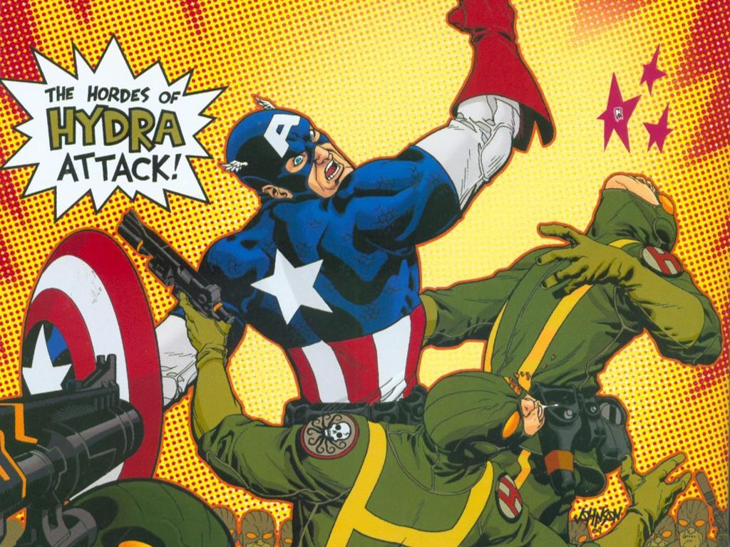 Comics Wallpaper: Captain America - Hydra Attacks
