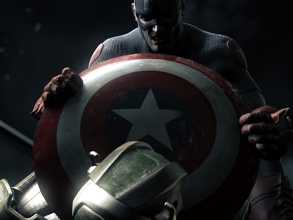Comics Wallpaper: Captain America vs Ultron