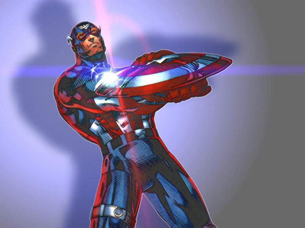 Papel de Parede Gratuito de Quadrinhos : Capitão América