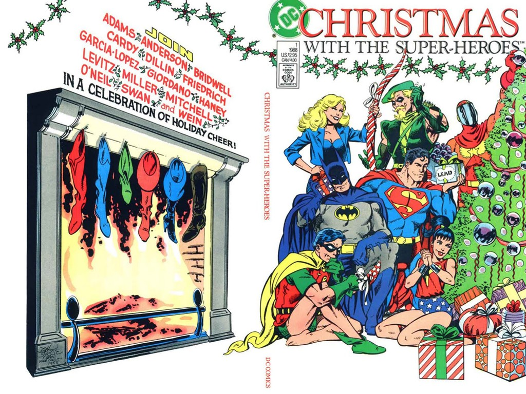 Comics Wallpaper: DC Super Heroes - Christmas