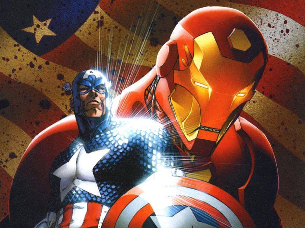Comics Wallpaper: Civil War - Captain American and Iron Man