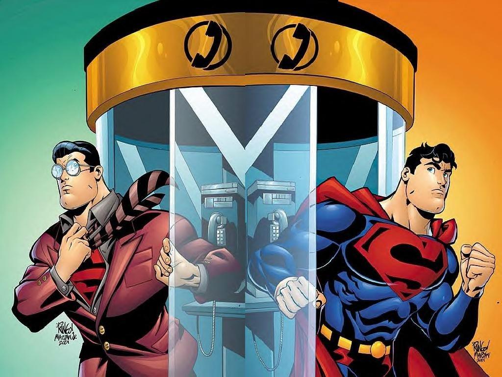 Comics Wallpaper: Clark Kent and Superman