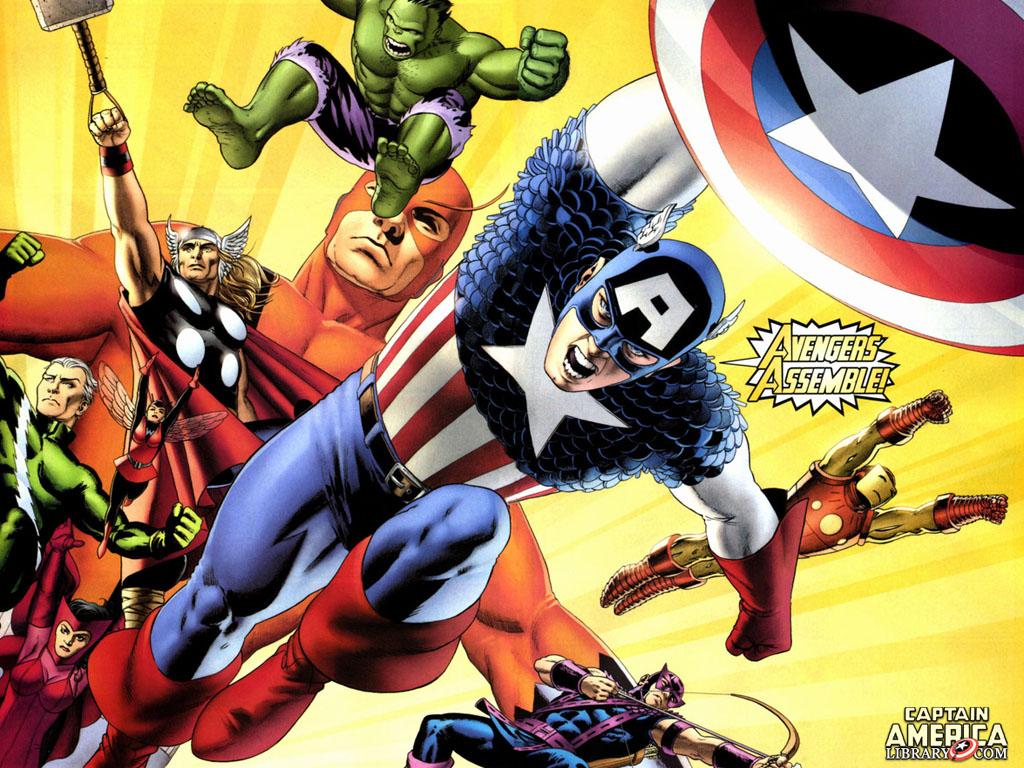 Comics Wallpaper: Classic Avengers - Assemble!