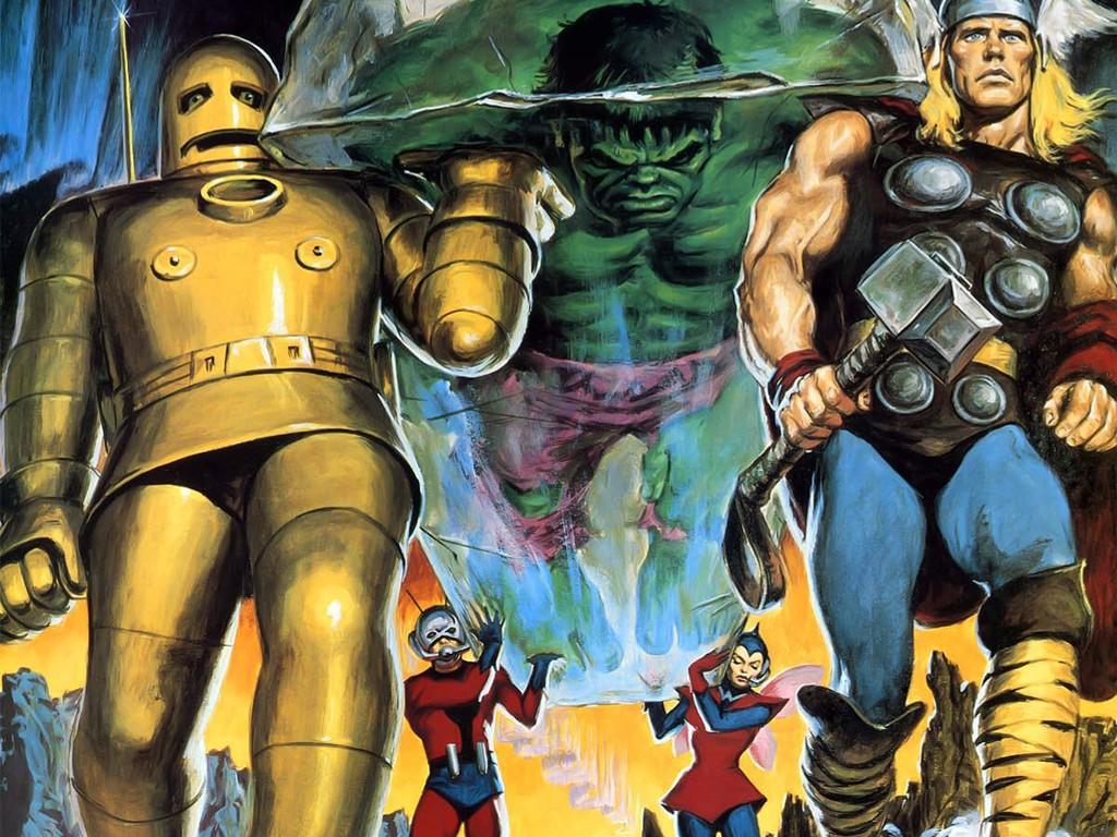 Comics Wallpaper: Classic Avengers (by Earl Norem)