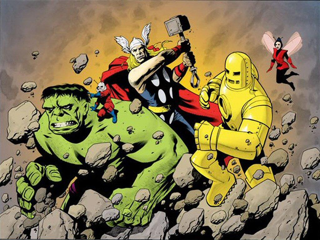Comics Wallpaper: Classic Avengers