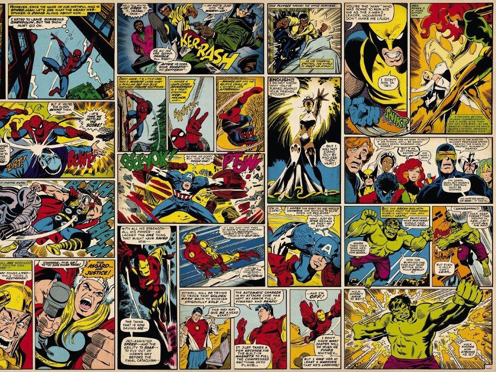 Comics Wallpaper: Classic Marvel Strips