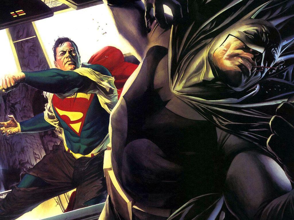 Comics Wallpaper: Superman vs Batman (by Alex Ross)
