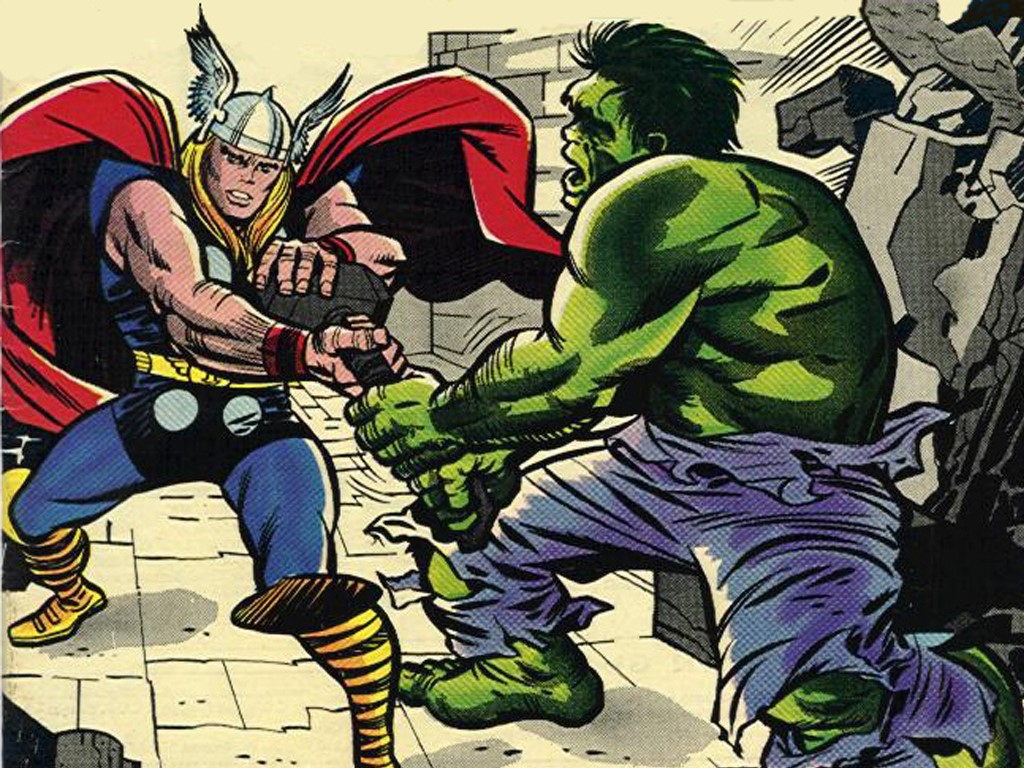 Comics Wallpaper: Classic - Thor and Hulk
