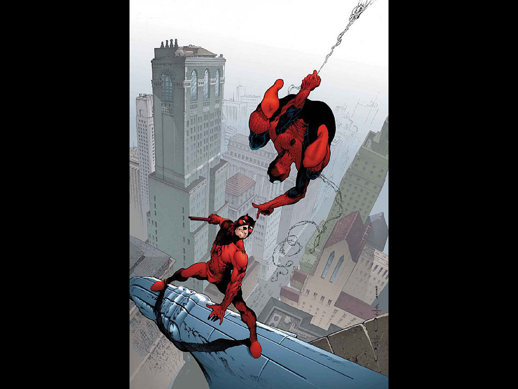 Comics Wallpaper: Daredevil and Spider-Man
