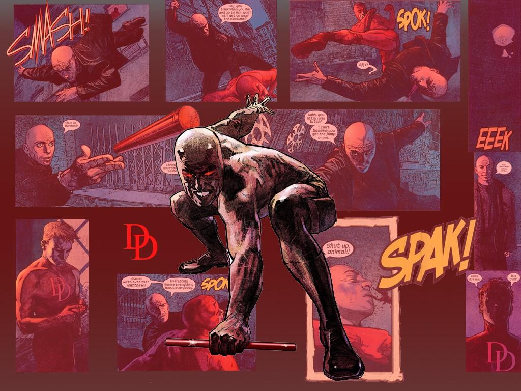 Comics Wallpaper: Daredevil vs Bullseye