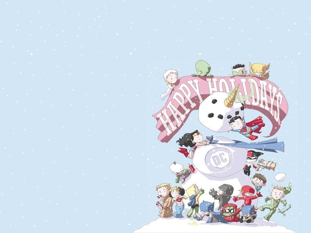 Comics Wallpaper: DC Characters - Christmas