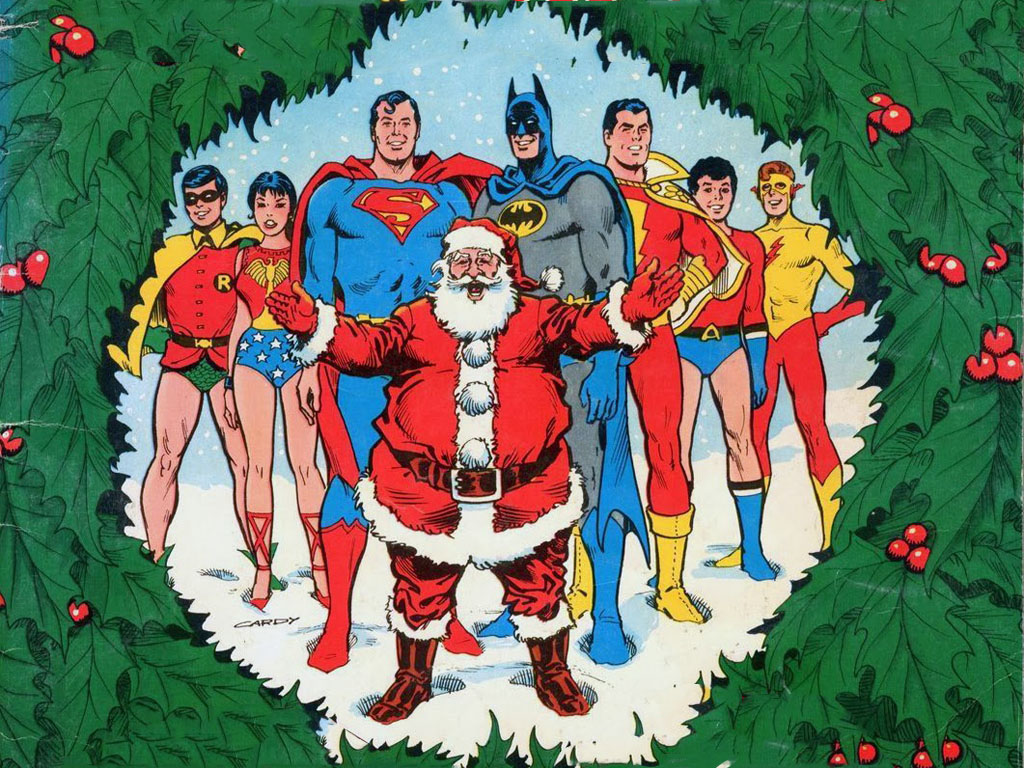 Comics Wallpaper: DC Comics - Christmas Card