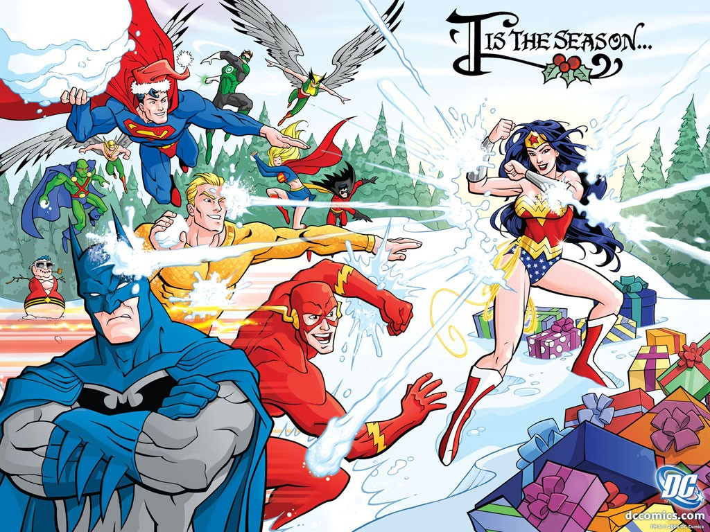 Comics Wallpaper: DC Heroes - Christmas