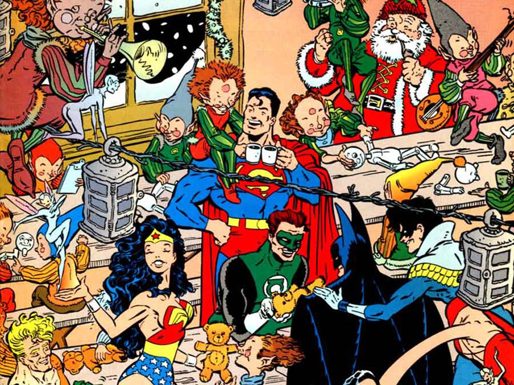 Comics Wallpaper: DC Super Heroes - Christmas