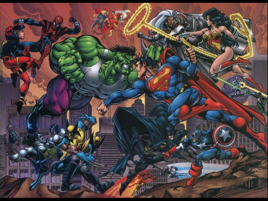 Comics Wallpaper: DC vs Marvel