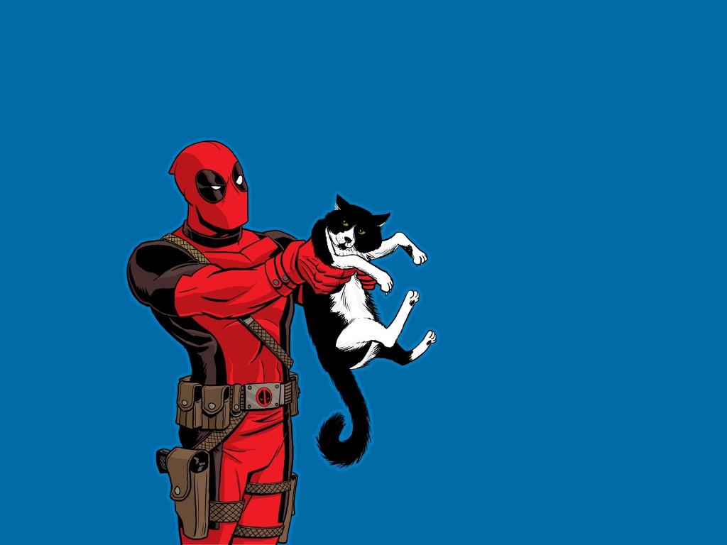 Comics Wallpaper: Deadpool (and Cat)