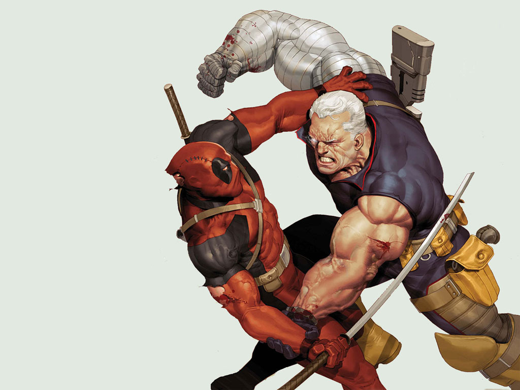 Comics Wallpaper: Deadpool vs Cable