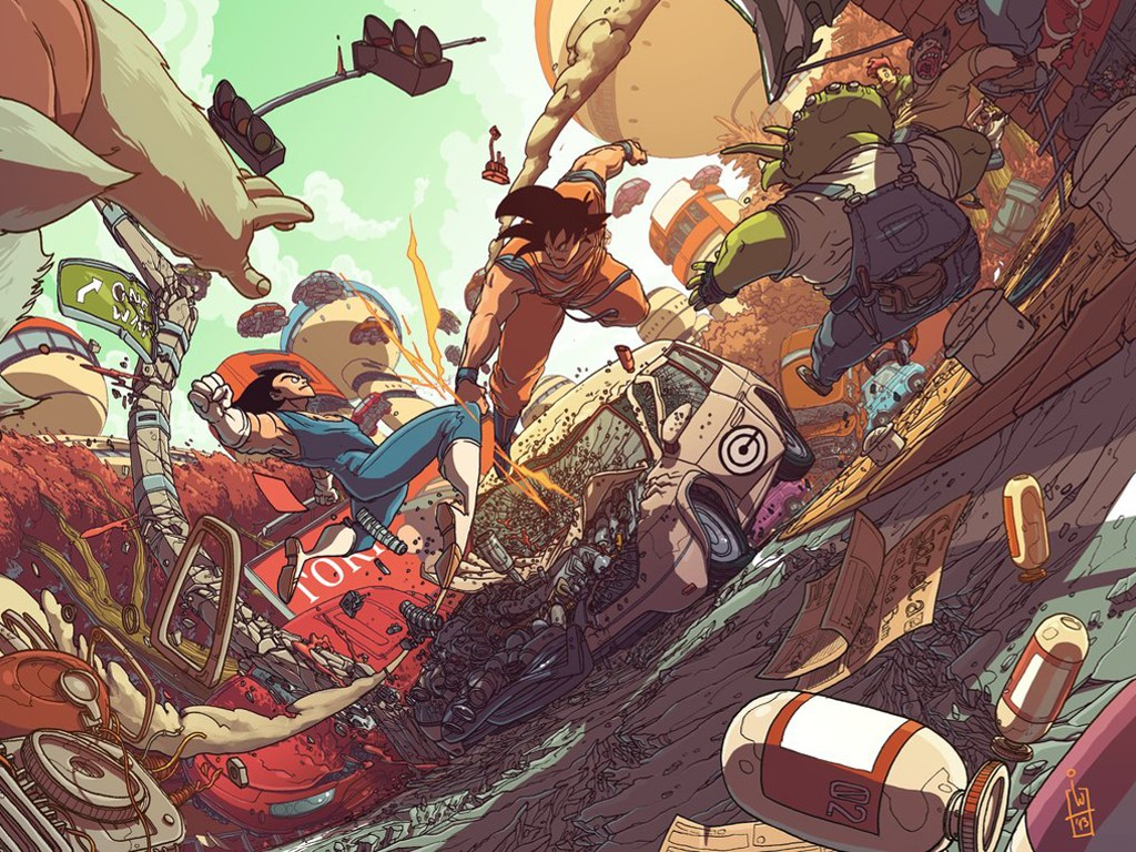 Comics Wallpaper: Dragon Ball (by Igor Wolski)
