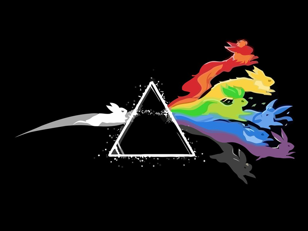 Comics Wallpaper: Eevee - Dark Side of the Moon