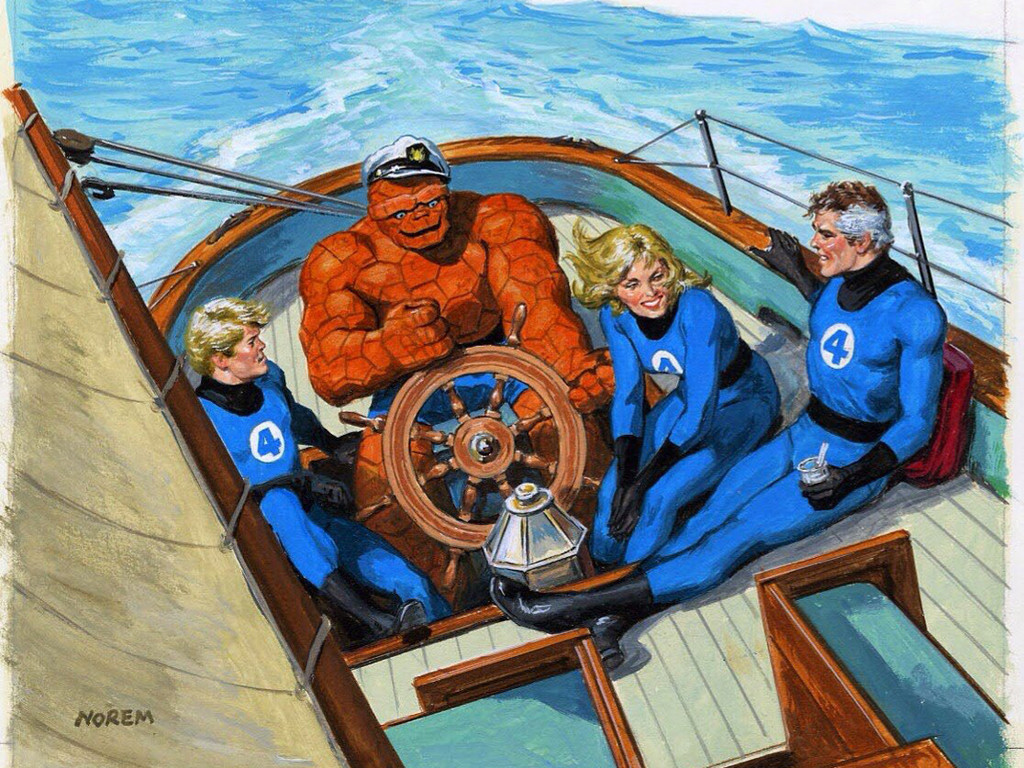 Comics Wallpaper: Fantastic Four - Holidays (by Norem)