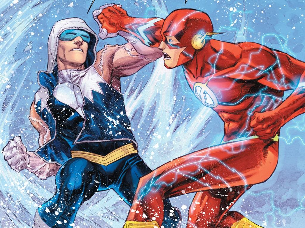Comics Wallpaper: Flash vs Captain Cold