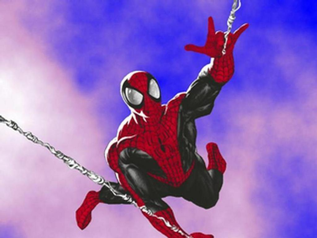 Comics Wallpaper: Flying Spider-Man