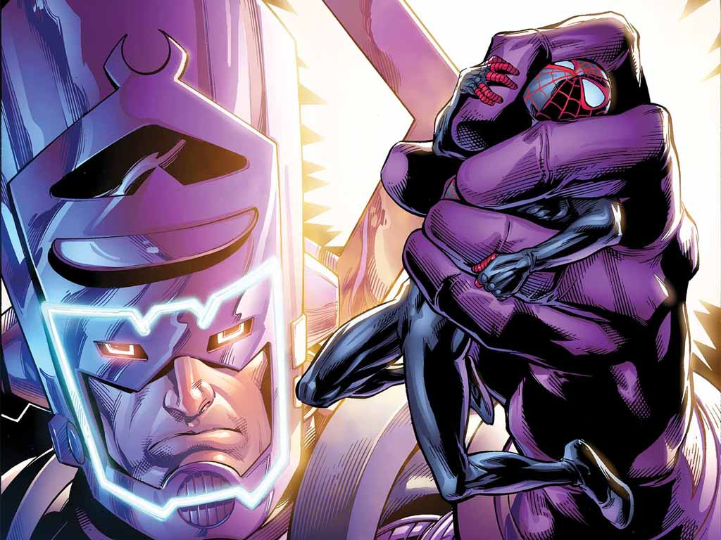Comics Wallpaper: Galactus vs Ultimate Spider-Man