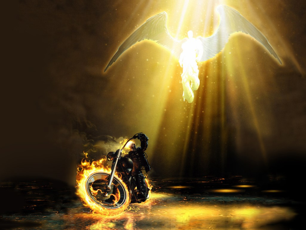 Comics Wallpaper: Ghost Rider and An Angel