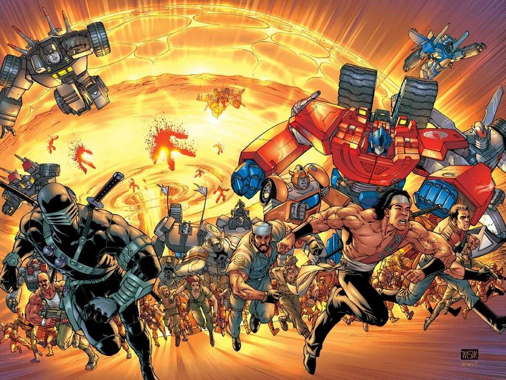 Comics Wallpaper: GI Joe and Transformers