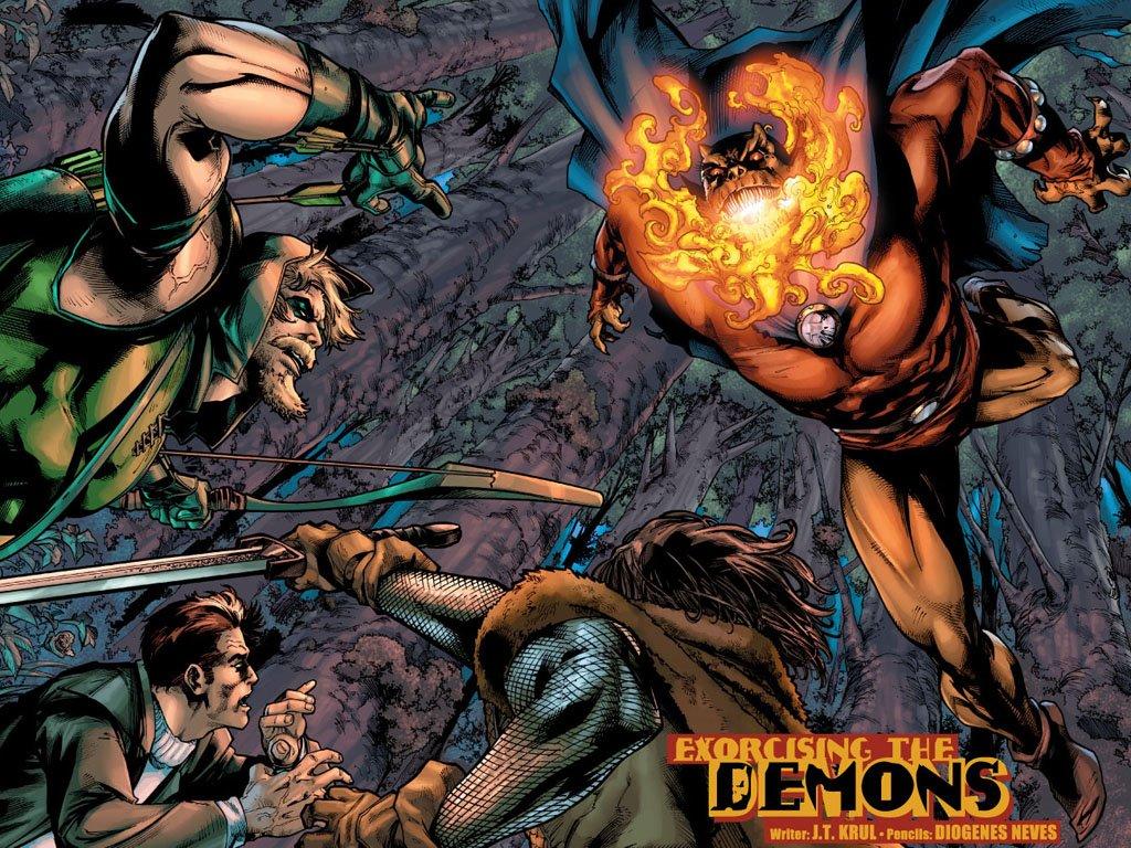 Comics Wallpaper: Green Arrow and Etrigan
