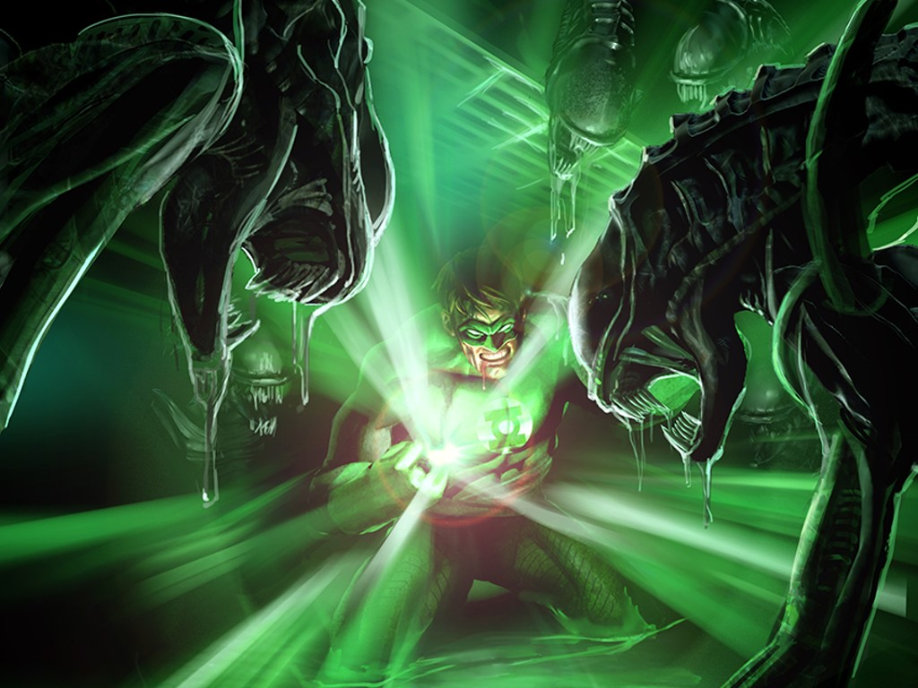 Comics Wallpaper: Green Lantern vs Aliens