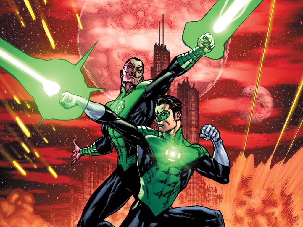 Comics Wallpaper: Green Lanterns - Jordan and Sinestro
