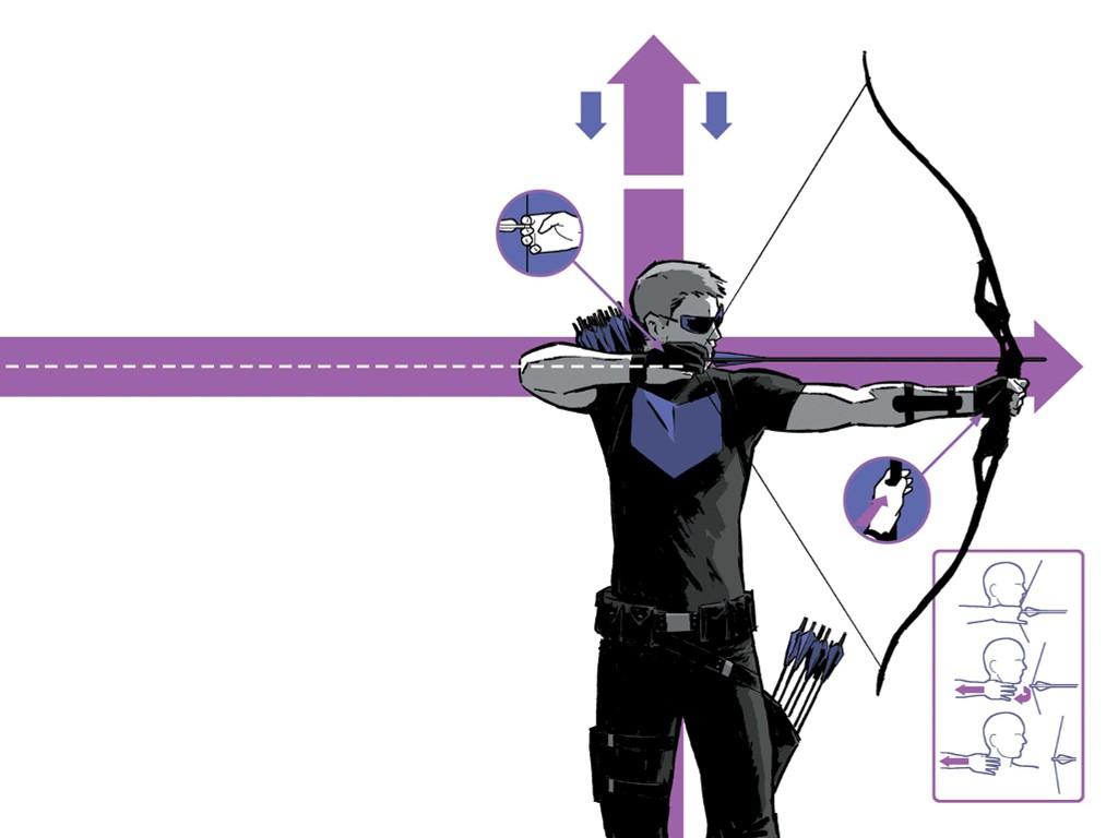 Papel de Parede Gratuito de Quadrinhos : Gavião Arqueiro