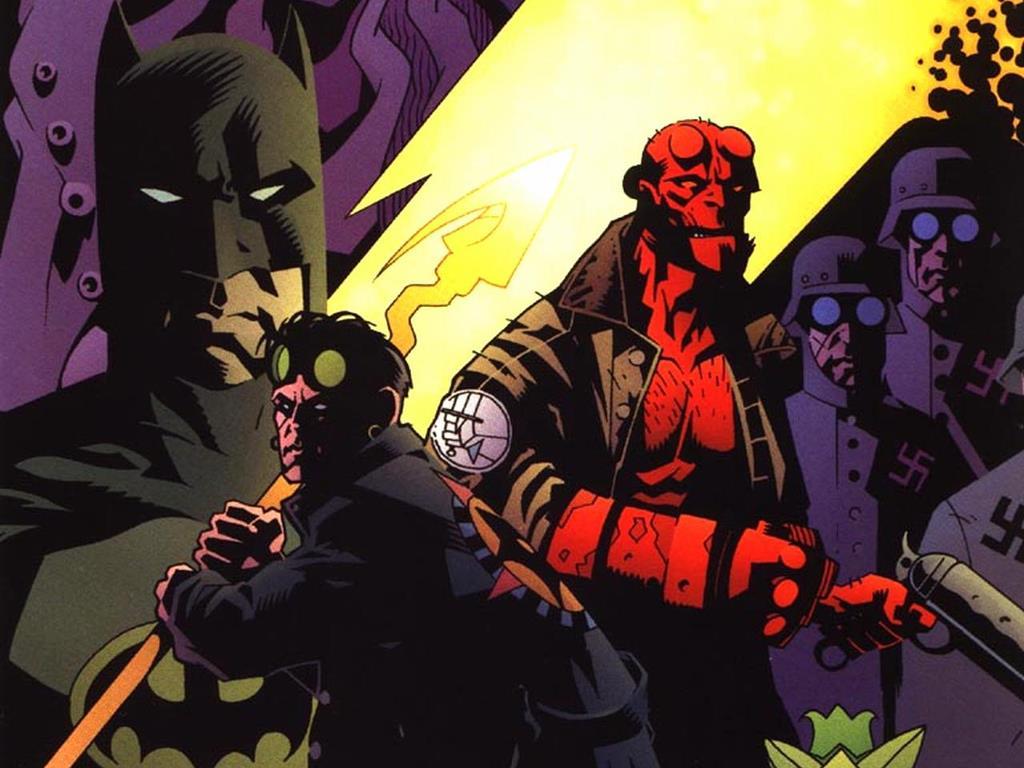 Comics Wallpaper: Hellboy, Batman and Starman