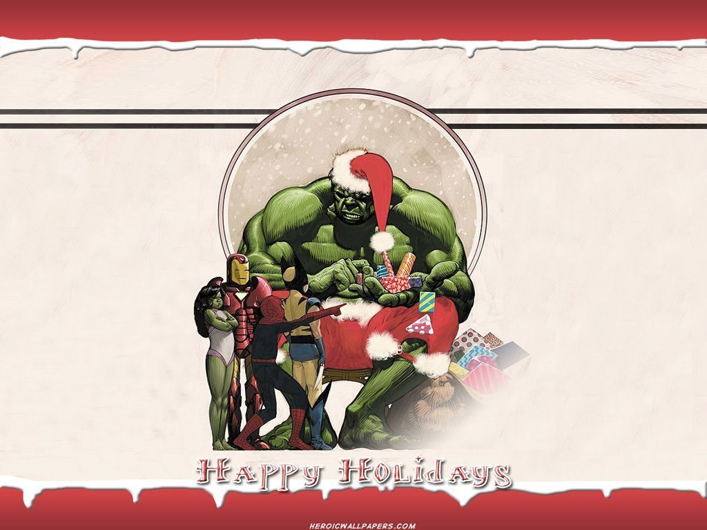 Comics Wallpaper: Hulk - Christmas
