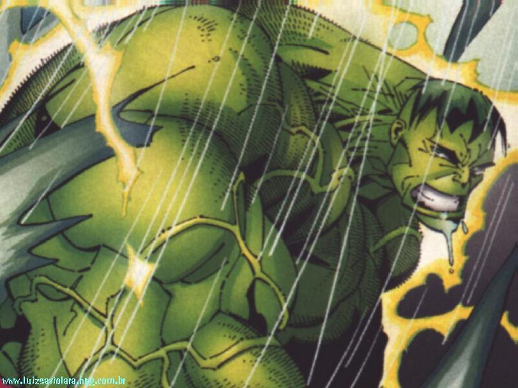 Comics Wallpaper: Hulk in the Rain