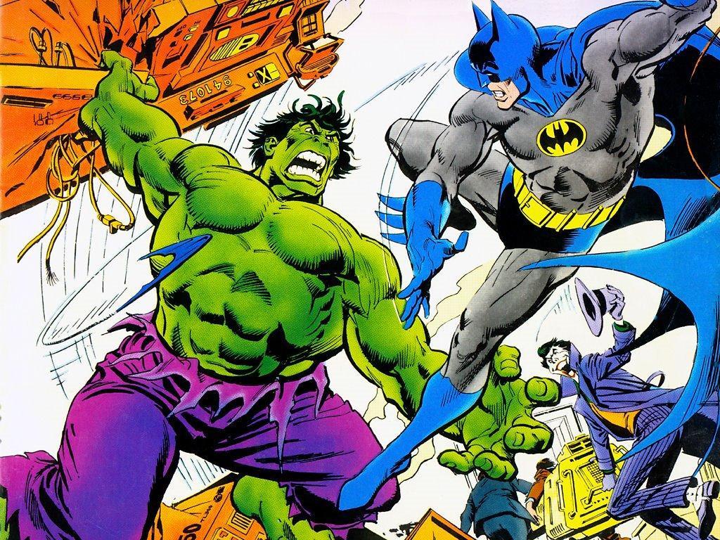 Comics Wallpaper: Hulk vs Batman