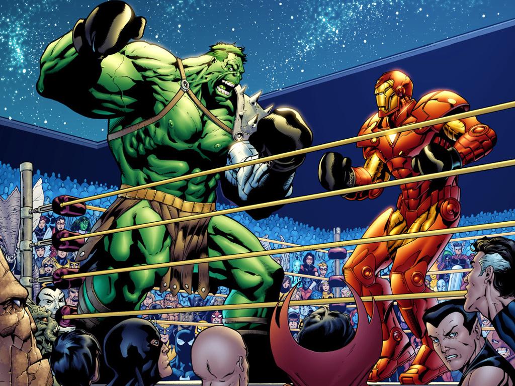 Comics Wallpaper: Hulk vs Iron Man