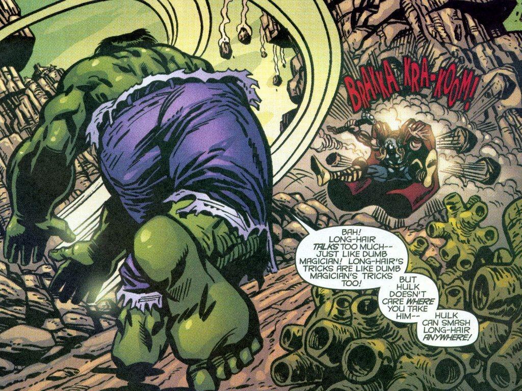Comics Wallpaper: Hulk vs. Thor